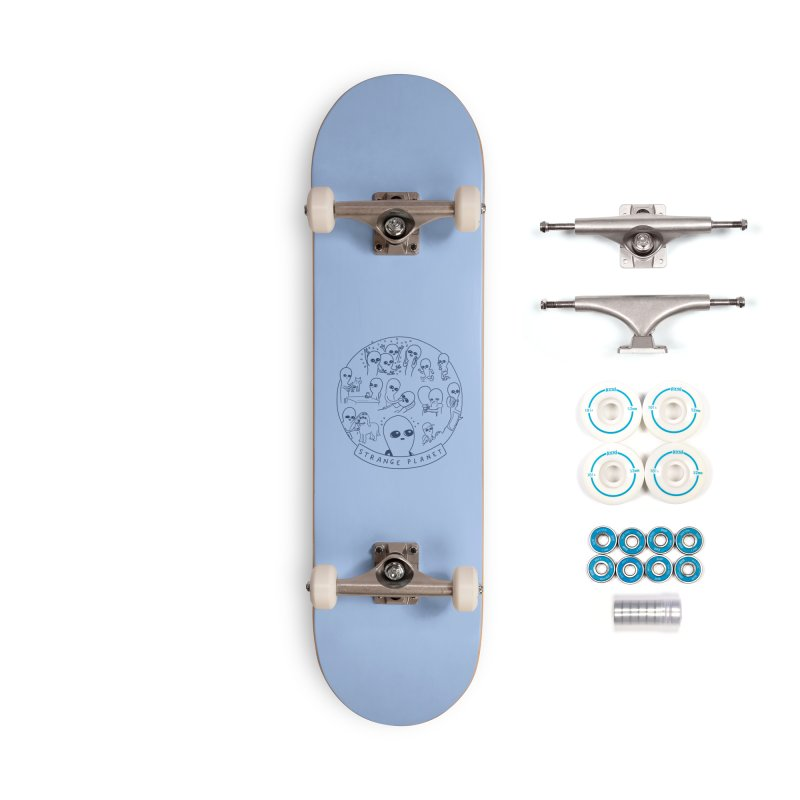 STRANGE PLANET: SUMMER CAMP DESIGN Accessories Complete - Basic Skateboard by Nathan W Pyle