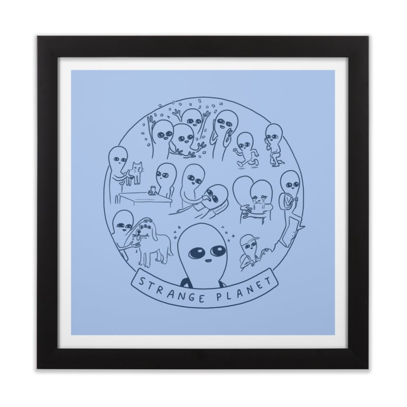 STRANGE PLANET: SUMMER CAMP DESIGN Home Framed Fine Art Print by Nathan W Pyle