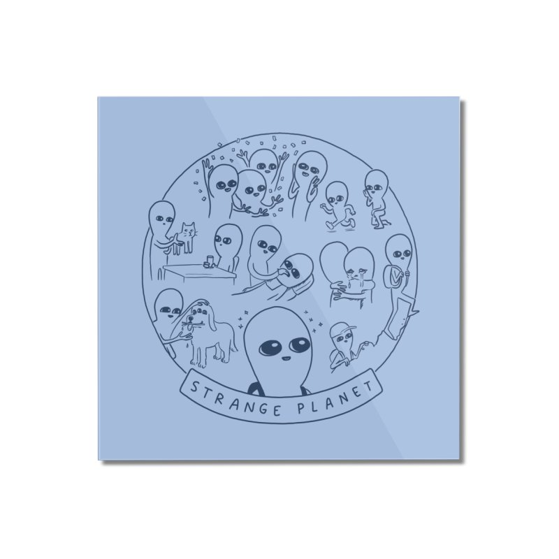 STRANGE PLANET: SUMMER CAMP DESIGN Home Mounted Acrylic Print by Nathan W Pyle