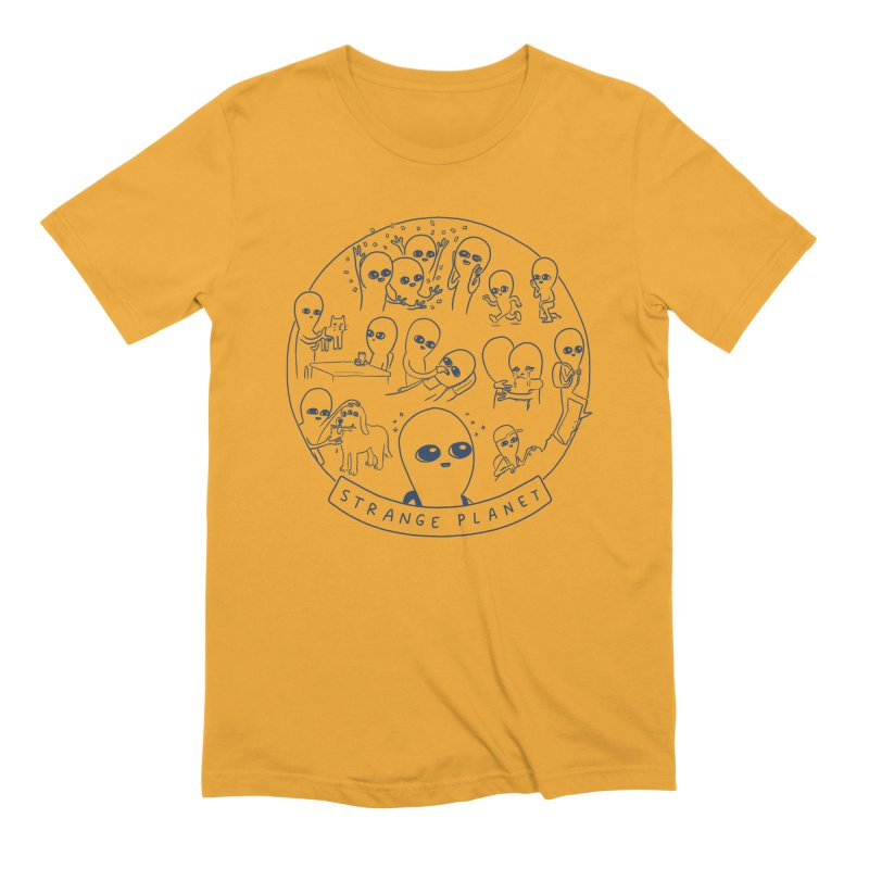 STRANGE PLANET: SUMMER CAMP DESIGN Men's Extra Soft T-Shirt by Nathan W Pyle