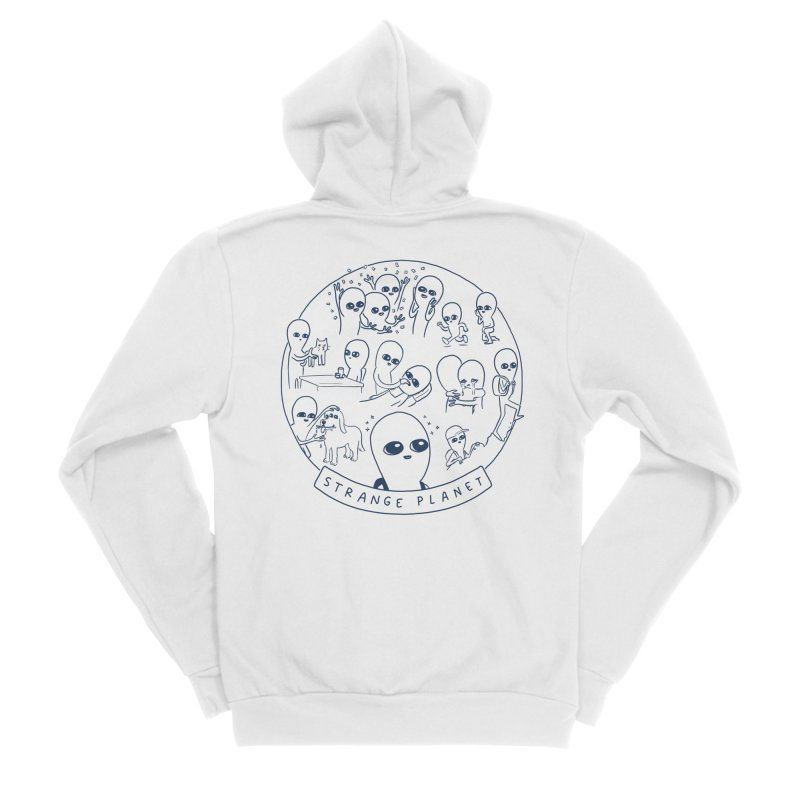 STRANGE PLANET: SUMMER CAMP DESIGN Men's Sponge Fleece Zip-Up Hoody by Nathan W Pyle