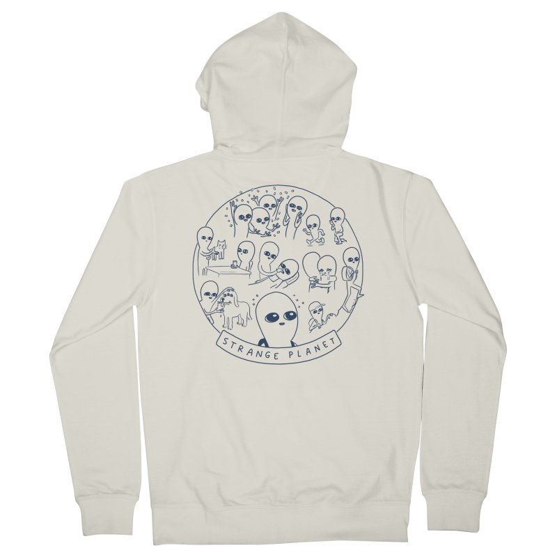 STRANGE PLANET: SUMMER CAMP DESIGN Men's French Terry Zip-Up Hoody by Nathan W Pyle