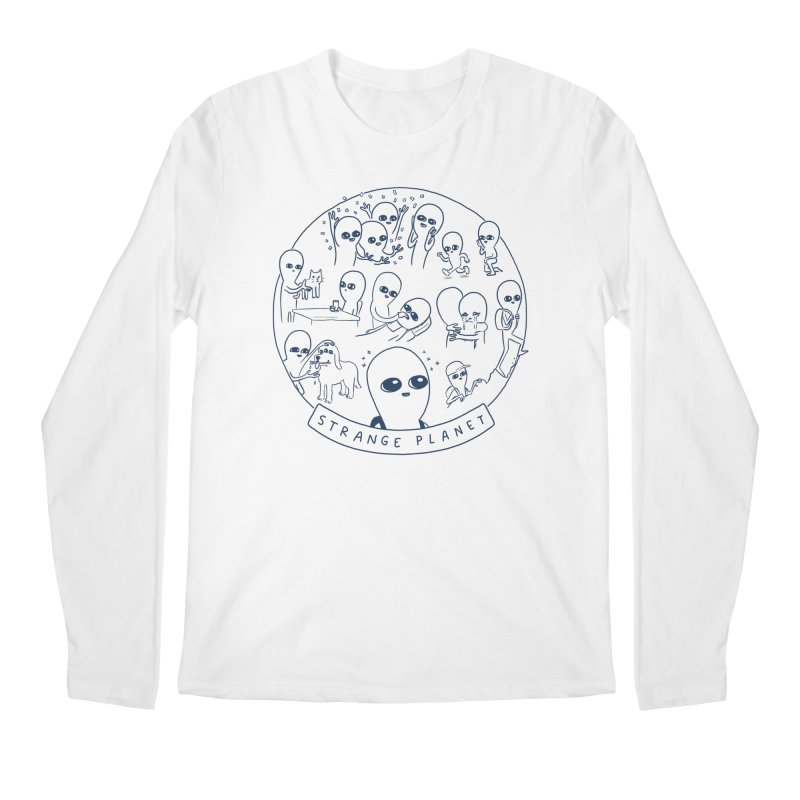 STRANGE PLANET: SUMMER CAMP DESIGN Men's Regular Longsleeve T-Shirt by Nathan W Pyle