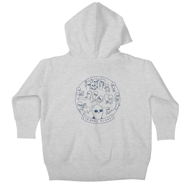 STRANGE PLANET: SUMMER CAMP DESIGN Kids Baby Zip-Up Hoody by Nathan W Pyle