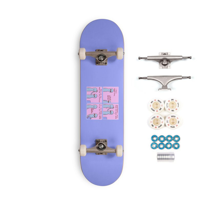 STRANGE PLANET: I AM NOT TRAINED FOR THIS Accessories Complete - Premium Skateboard by Nathan W Pyle