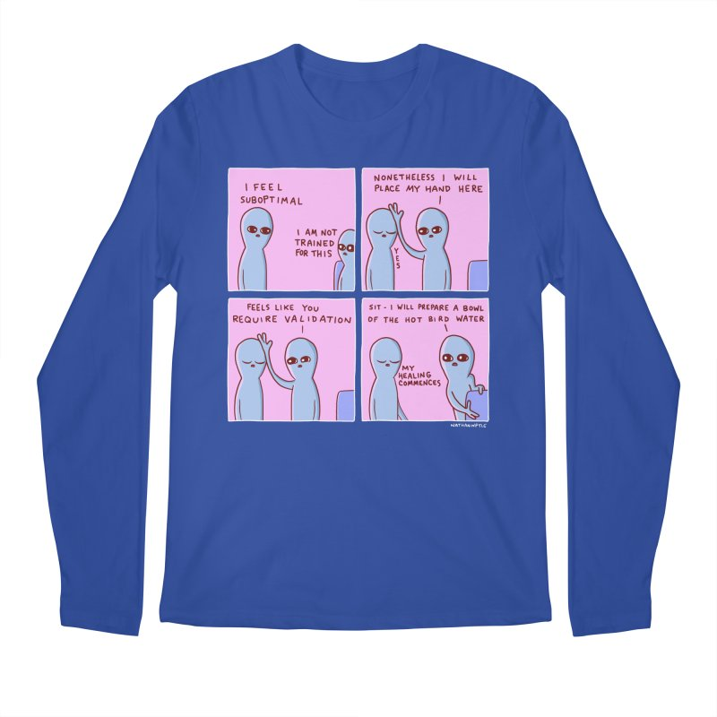 STRANGE PLANET: I AM NOT TRAINED FOR THIS Men's Regular Longsleeve T-Shirt by Nathan W Pyle