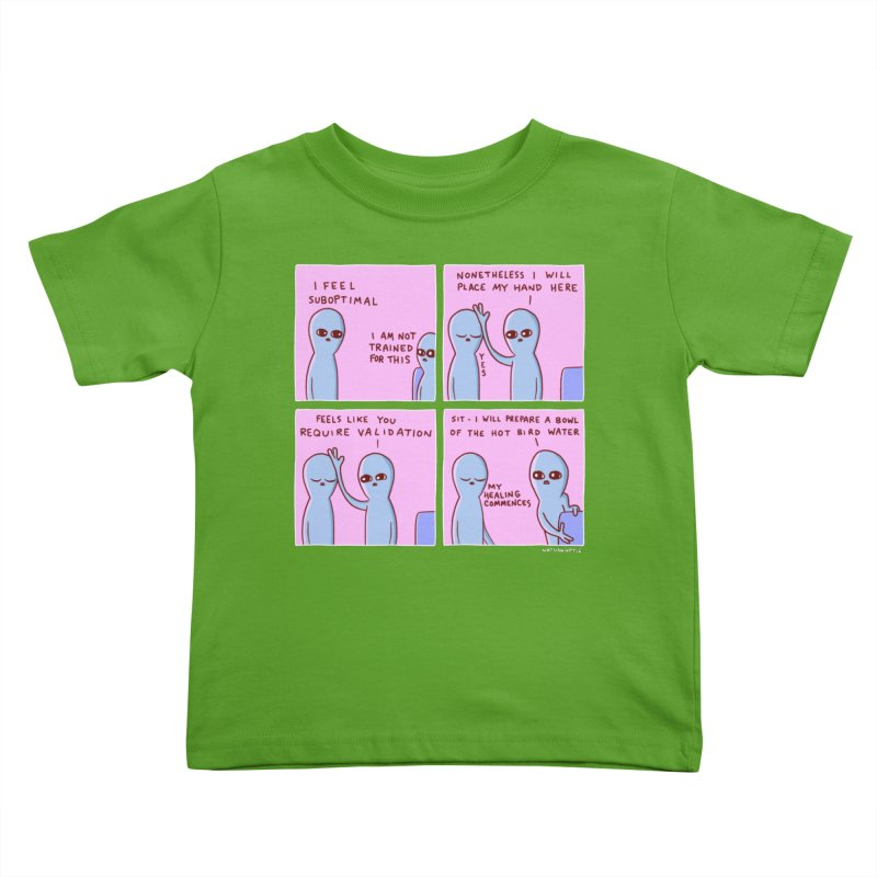 STRANGE PLANET: I AM NOT TRAINED FOR THIS Kids Toddler T-Shirt by Nathan W Pyle