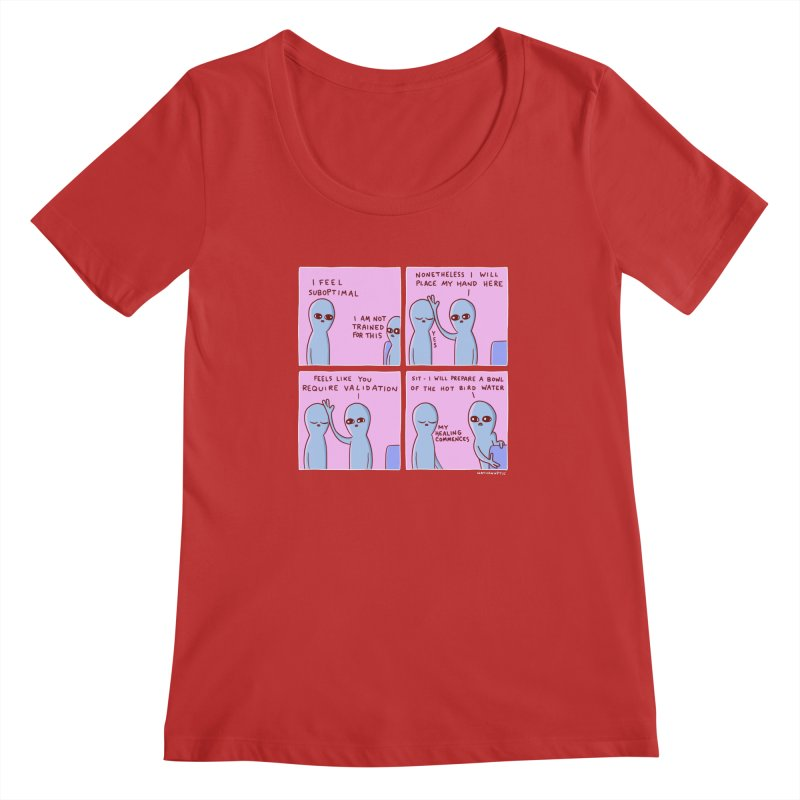 STRANGE PLANET: I AM NOT TRAINED FOR THIS Women's Regular Scoop Neck by Nathan W Pyle