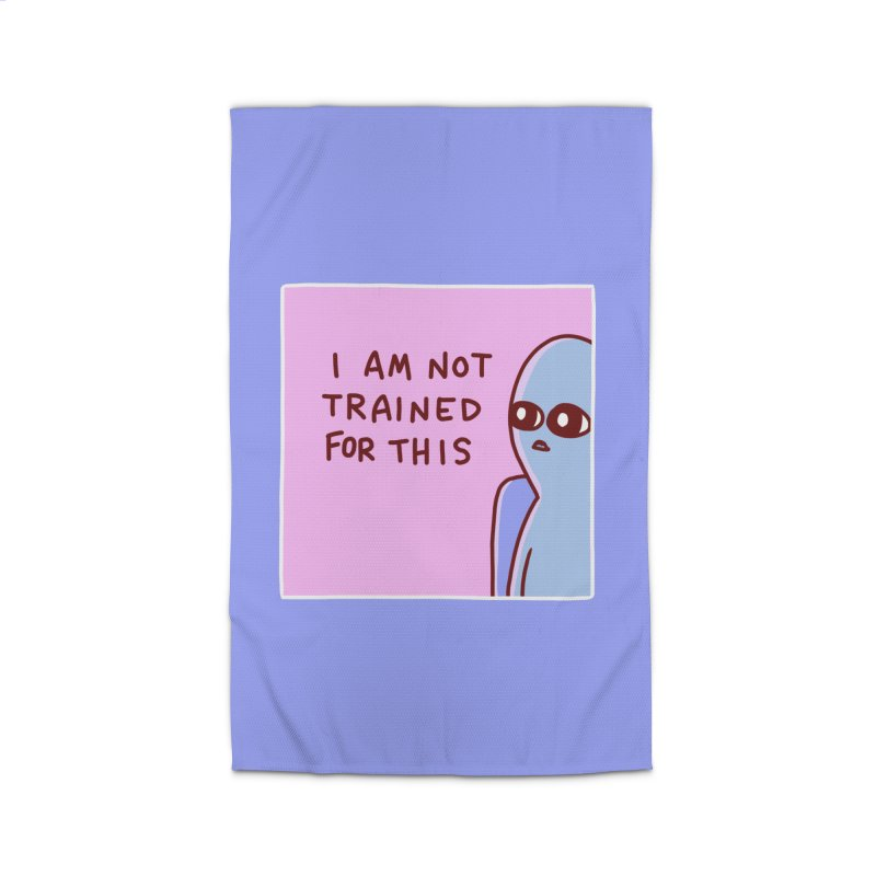 STRANGE PLANET SPECIAL PRODUCT: I AM NOT TRAINED FOR THIS Home Rug by Nathan W Pyle