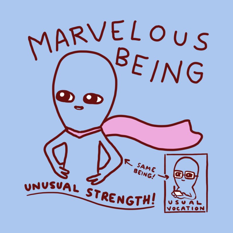 STRANGE PLANET SPECIAL PRODUCT: MARVELOUS BEING Accessories Mug by Nathan W Pyle