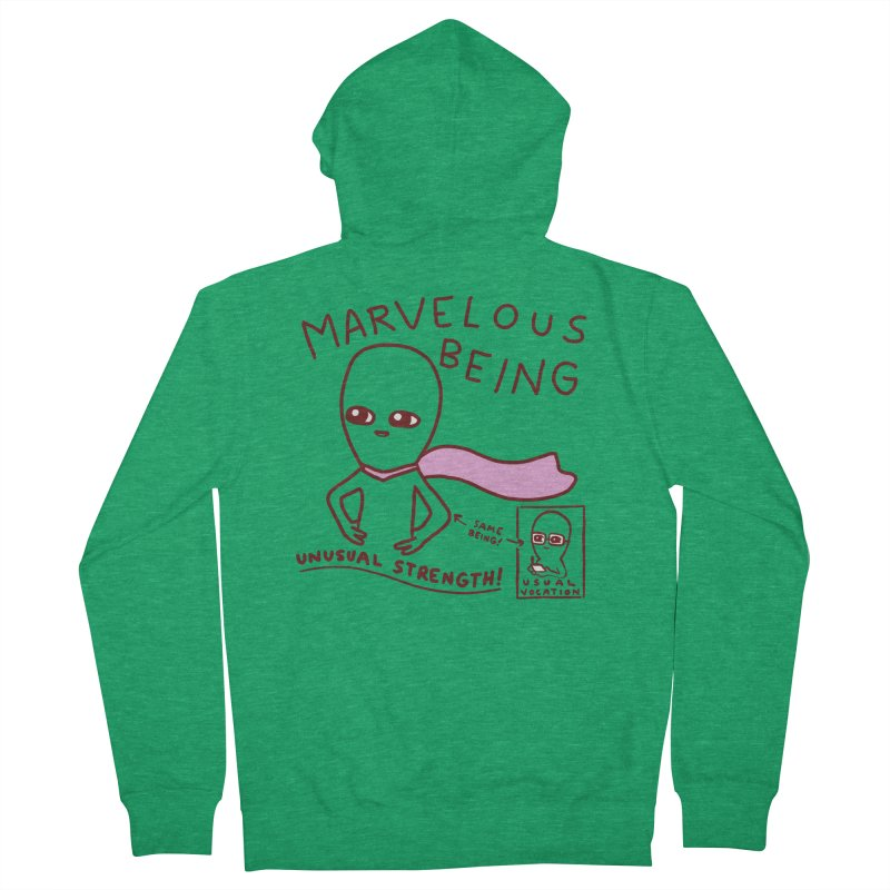 STRANGE PLANET SPECIAL PRODUCT: MARVELOUS BEING Men's Zip-Up Hoody by Nathan W Pyle