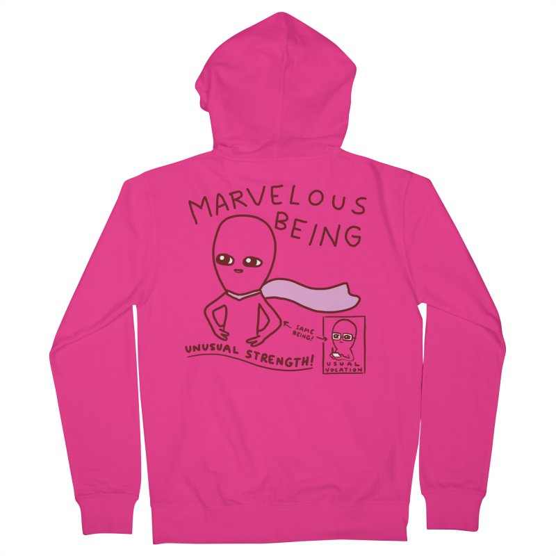STRANGE PLANET SPECIAL PRODUCT: MARVELOUS BEING Men's French Terry Zip-Up Hoody by Nathan W Pyle
