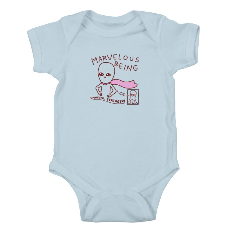 STRANGE PLANET SPECIAL PRODUCT: MARVELOUS BEING Kids Baby Bodysuit by Nathan W Pyle Shop   Strange Planet Store   Thread