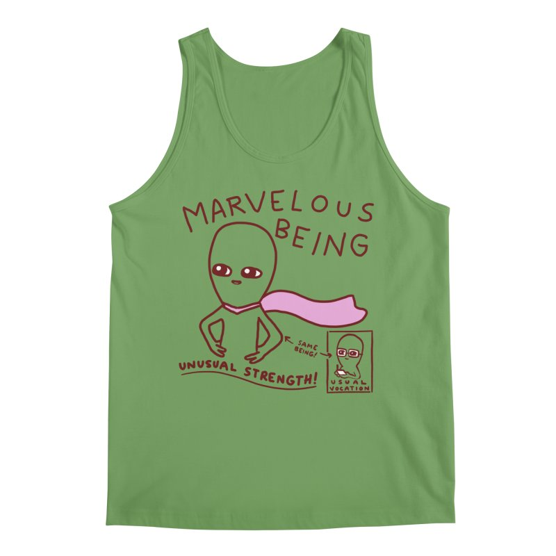 STRANGE PLANET SPECIAL PRODUCT: MARVELOUS BEING Men's Tank by Nathan W Pyle