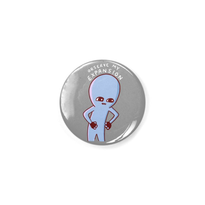 STRANGE PLANET SPECIAL PRODUCT: OBSERVE MY EXPANSION SINGLE CHARACTER Accessories Button by Nathan W Pyle