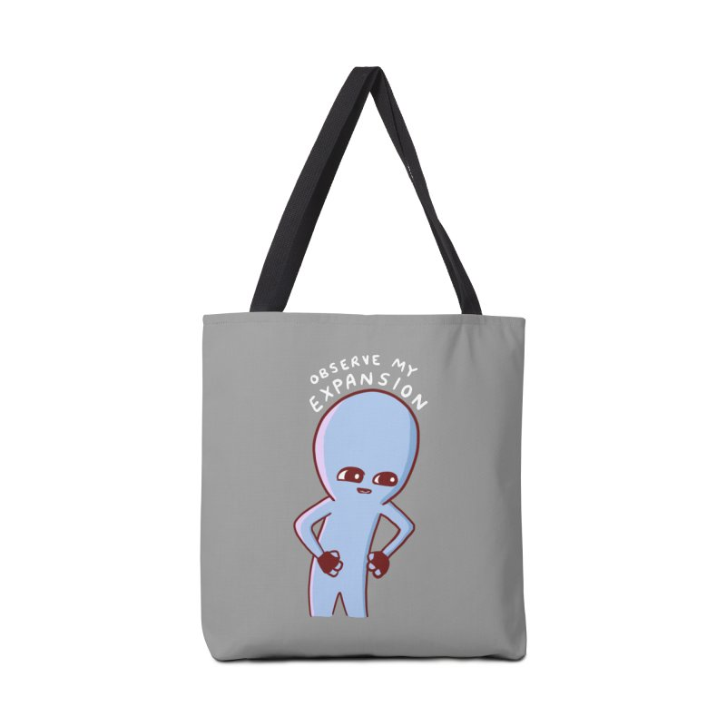 STRANGE PLANET SPECIAL PRODUCT: OBSERVE MY EXPANSION SINGLE CHARACTER Accessories Tote Bag Bag by Nathan W Pyle