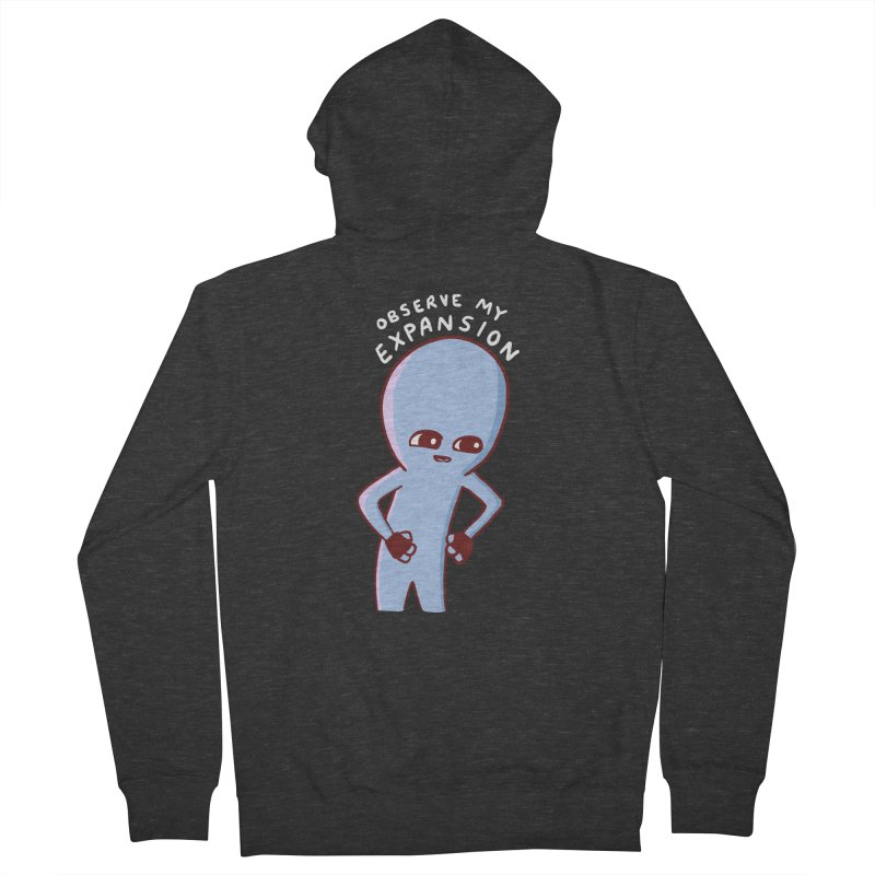 STRANGE PLANET SPECIAL PRODUCT: OBSERVE MY EXPANSION SINGLE CHARACTER Women's French Terry Zip-Up Hoody by Nathan W Pyle