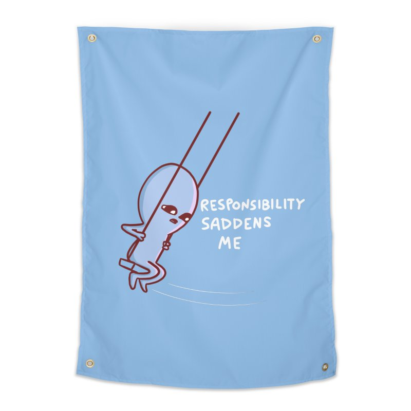 STRANGE PLANET SPECIAL PRODUCT: RESPONSIBILITY SADDENS ME Home Tapestry by Nathan W Pyle Shop | Strange Planet Store | Thread