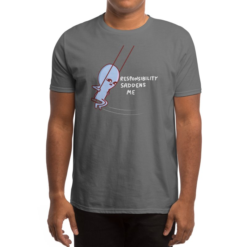 STRANGE PLANET SPECIAL PRODUCT: RESPONSIBILITY SADDENS ME Men's T-Shirt by Nathan W Pyle Shop   Strange Planet Store   Thread