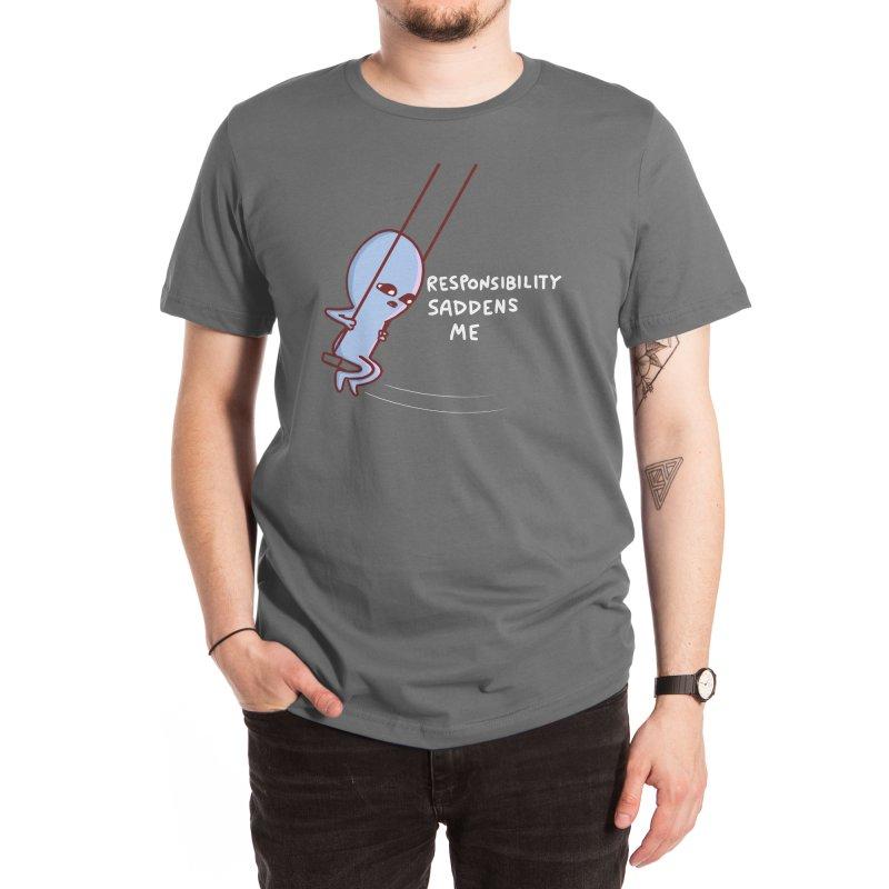 STRANGE PLANET SPECIAL PRODUCT: RESPONSIBILITY SADDENS ME Men's T-Shirt by Nathan W Pyle Shop | Strange Planet Store