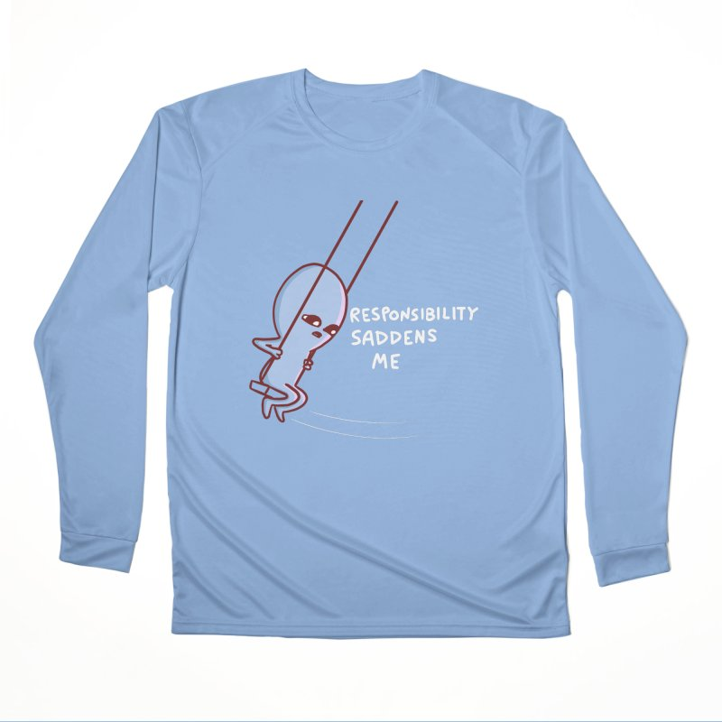 STRANGE PLANET SPECIAL PRODUCT: RESPONSIBILITY SADDENS ME Men's Longsleeve T-Shirt by Nathan W Pyle
