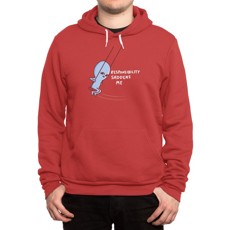 STRANGE PLANET SPECIAL PRODUCT: RESPONSIBILITY SADDENS ME Men's Pullover Hoody by Nathan W Pyle