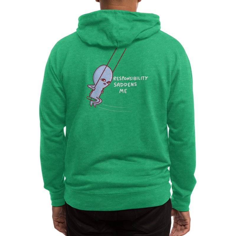 STRANGE PLANET SPECIAL PRODUCT: RESPONSIBILITY SADDENS ME Men's Zip-Up Hoody by Nathan W Pyle Shop | Strange Planet Store | Thread