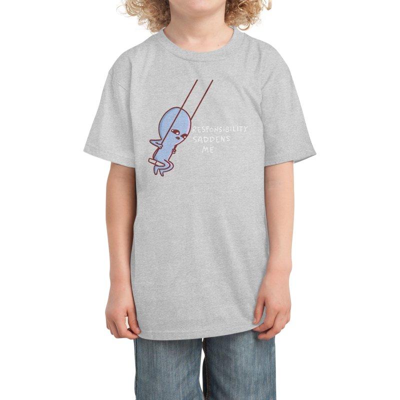 STRANGE PLANET SPECIAL PRODUCT: RESPONSIBILITY SADDENS ME Kids T-Shirt by Nathan W Pyle Shop   Strange Planet Store