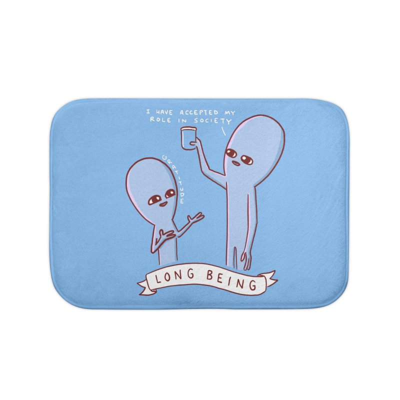 STRANGE PLANET SPECIAL PRODUCT: LONG BEING Home Bath Mat by Nathan W Pyle