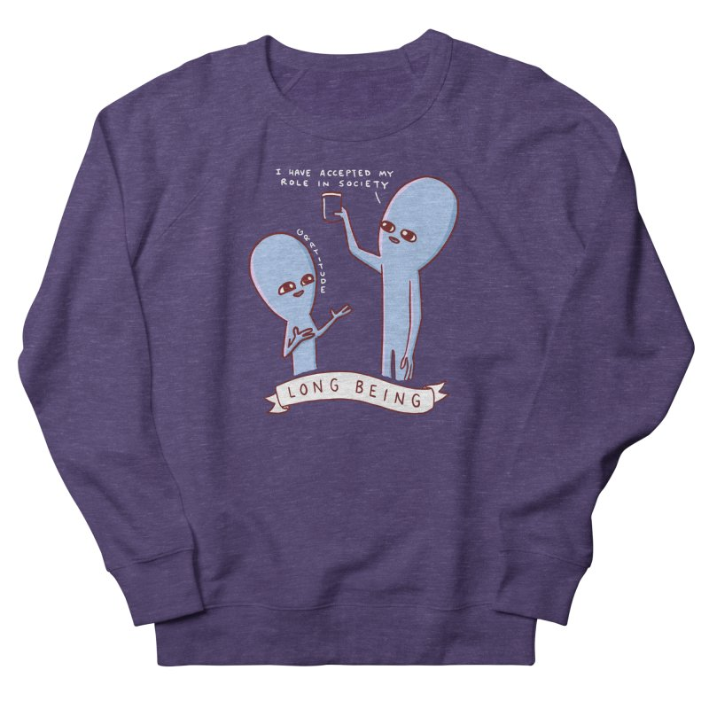 STRANGE PLANET SPECIAL PRODUCT: LONG BEING Women's French Terry Sweatshirt by Nathan W Pyle