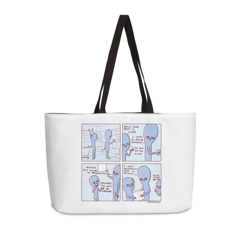 STRANGE PLANET: LONG BEING Accessories Weekender Bag Bag by Nathan W Pyle
