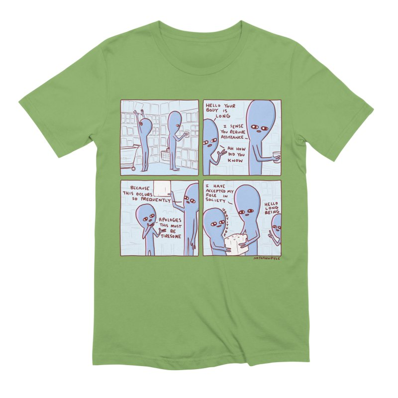 STRANGE PLANET: LONG BEING Men's Extra Soft T-Shirt by Nathan W Pyle