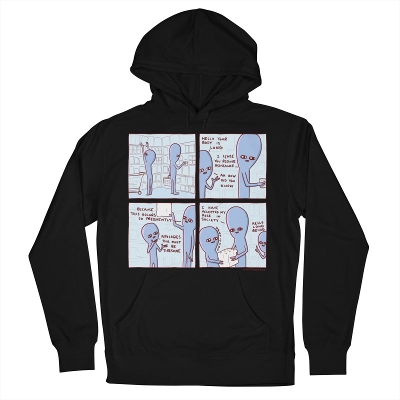 STRANGE PLANET: LONG BEING Women's French Terry Pullover Hoody by Nathan W Pyle