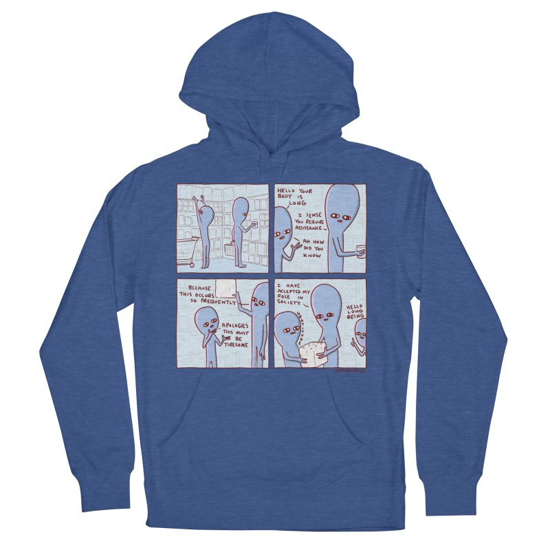 STRANGE PLANET: LONG BEING Men's French Terry Pullover Hoody by Nathan W Pyle
