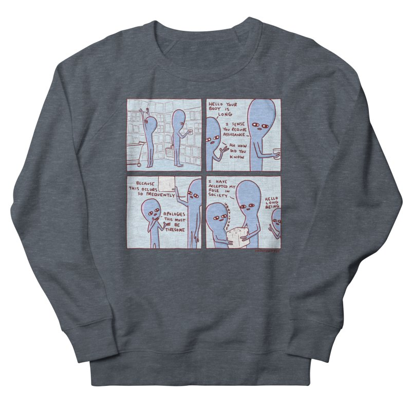 STRANGE PLANET: LONG BEING Women's French Terry Sweatshirt by Nathan W Pyle