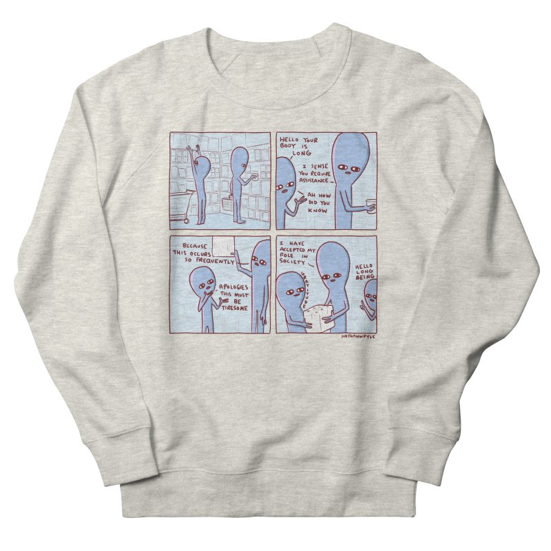 STRANGE PLANET: LONG BEING Men's French Terry Sweatshirt by Nathan W Pyle