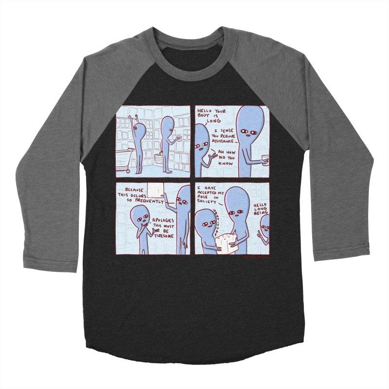 STRANGE PLANET: LONG BEING Women's Baseball Triblend Longsleeve T-Shirt by Nathan W Pyle