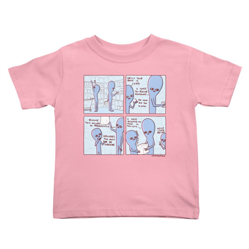 STRANGE PLANET: LONG BEING Kids Toddler T-Shirt by Nathan W Pyle