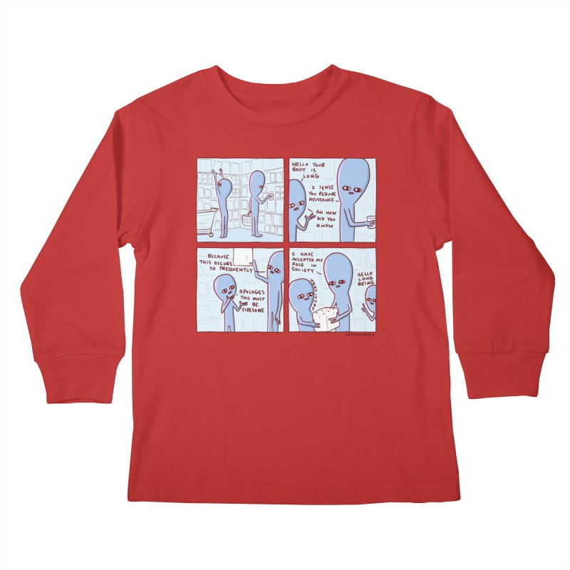 STRANGE PLANET: LONG BEING Kids Longsleeve T-Shirt by Nathan W Pyle
