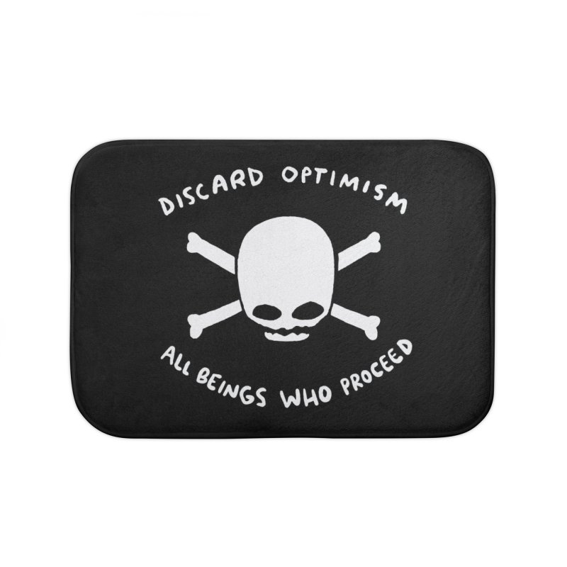 STRANGE PLANET SPECIAL PRODUCT: DISCARD OPTIMISM APPAREL AND ACCESSORIES Home Bath Mat by Nathan W Pyle