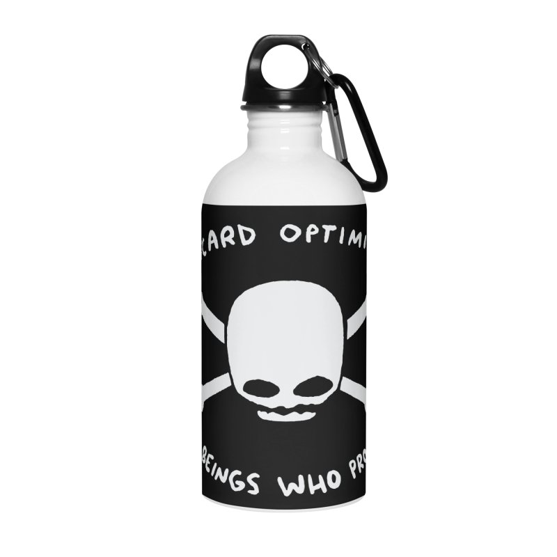 STRANGE PLANET SPECIAL PRODUCT: DISCARD OPTIMISM APPAREL AND ACCESSORIES Accessories Water Bottle by Nathan W Pyle