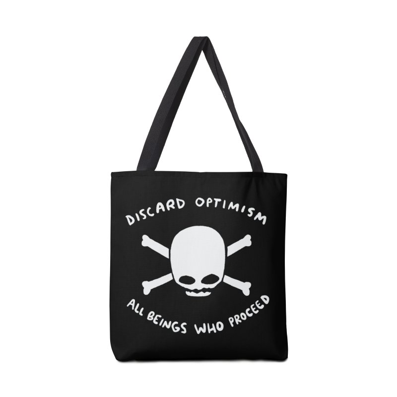STRANGE PLANET SPECIAL PRODUCT: DISCARD OPTIMISM APPAREL AND ACCESSORIES Accessories Tote Bag Bag by Nathan W Pyle
