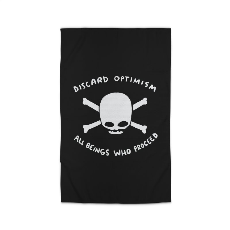 STRANGE PLANET SPECIAL PRODUCT: DISCARD OPTIMISM APPAREL AND ACCESSORIES Home Rug by Nathan W Pyle