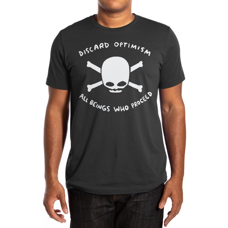 STRANGE PLANET SPECIAL PRODUCT: DISCARD OPTIMISM APPAREL AND ACCESSORIES Men's T-Shirt by Nathan W Pyle