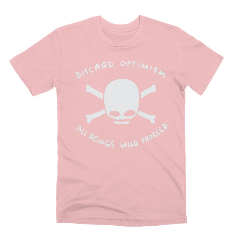 STRANGE PLANET SPECIAL PRODUCT: DISCARD OPTIMISM APPAREL AND ACCESSORIES Men's Premium T-Shirt by Nathan W Pyle
