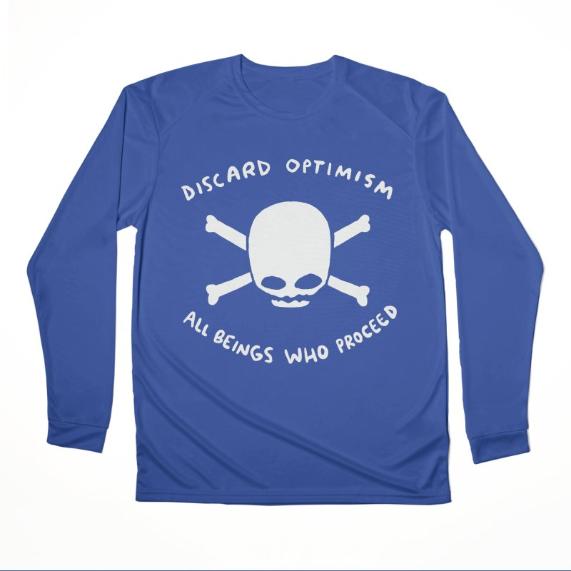 STRANGE PLANET SPECIAL PRODUCT: DISCARD OPTIMISM APPAREL AND ACCESSORIES Men's Performance Longsleeve T-Shirt by Nathan W Pyle