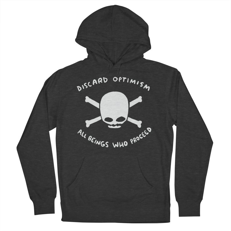 STRANGE PLANET SPECIAL PRODUCT: DISCARD OPTIMISM APPAREL AND ACCESSORIES Men's French Terry Pullover Hoody by Nathan W Pyle