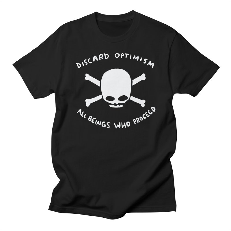 STRANGE PLANET SPECIAL PRODUCT: DISCARD OPTIMISM APPAREL AND ACCESSORIES Men's Regular T-Shirt by Nathan W Pyle