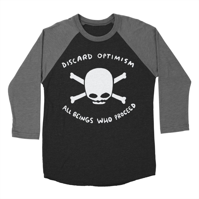 STRANGE PLANET SPECIAL PRODUCT: DISCARD OPTIMISM APPAREL AND ACCESSORIES Women's Baseball Triblend Longsleeve T-Shirt by Nathan W Pyle