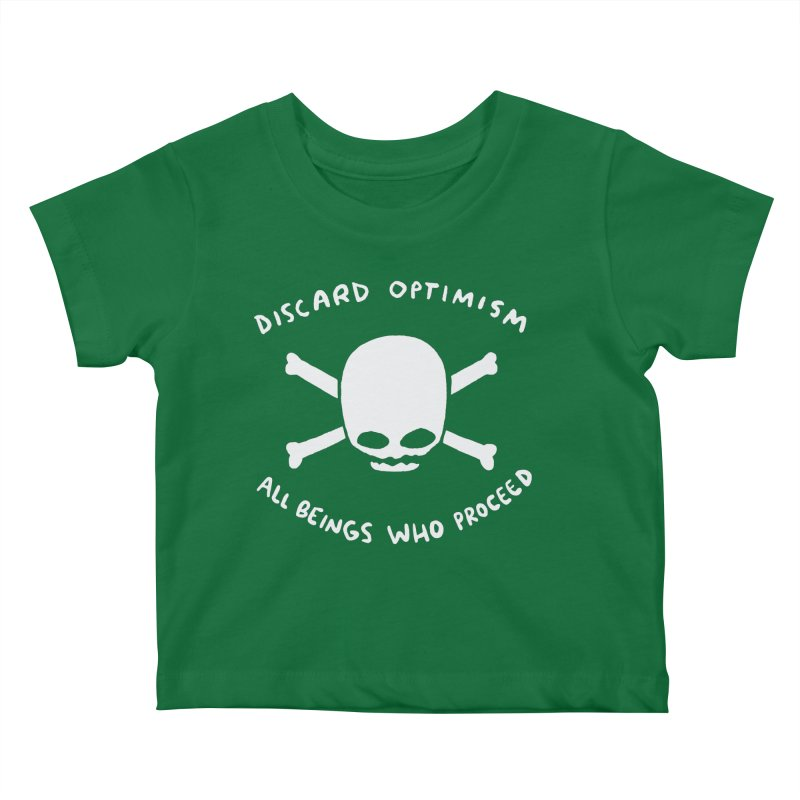 STRANGE PLANET SPECIAL PRODUCT: DISCARD OPTIMISM APPAREL AND ACCESSORIES Kids Baby T-Shirt by Nathan W Pyle